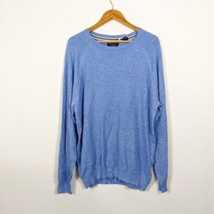 3/15 Weatherproof Blue Raglan Sleeve Crew Sweater